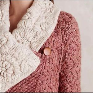 Knitted and knotted cardigan sweater Anthropologie